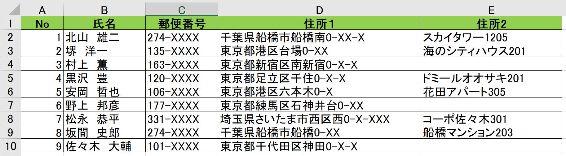 ラベル印刷簡単に作成・印刷!Excelでラベル印刷を行う方法1