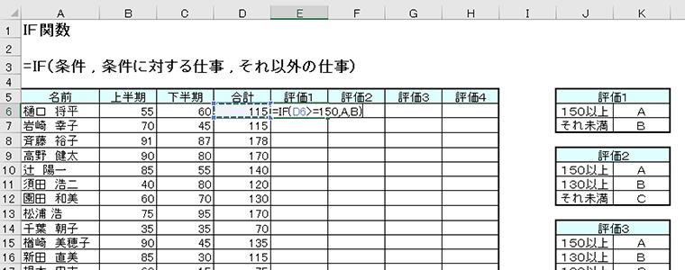 Excelは関数を絞って覚える
