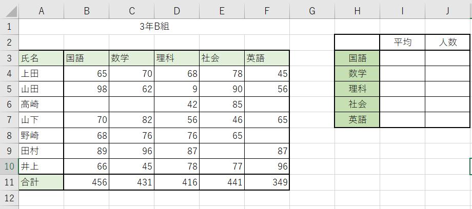 データベース関数を使ってみましょう