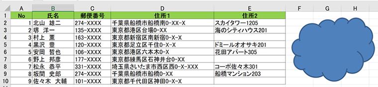 Excelを使用していて図形の位置がずれてしまう時の対処法
