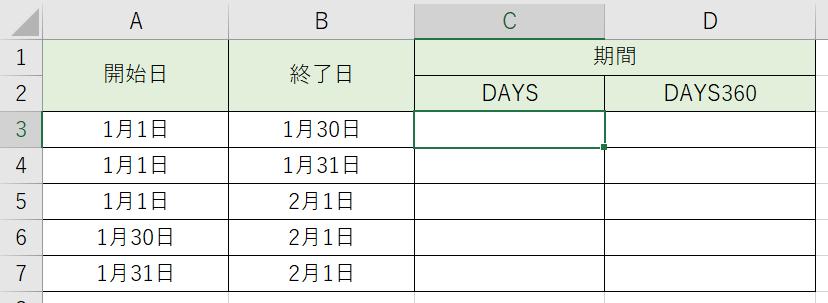 日数の計算をしてみましょう