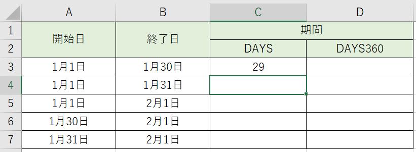 日数が計算出来ました。