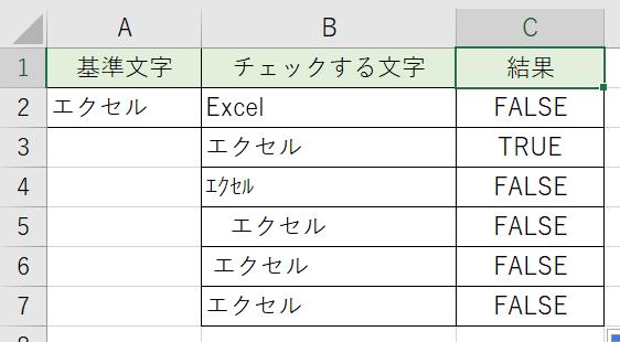 EXACT関数を使って判別しました。