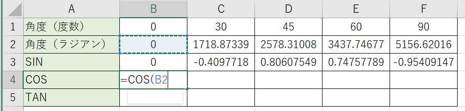 引数に角度を指定