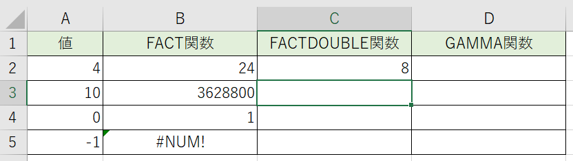 二重階乗の計算をしました。