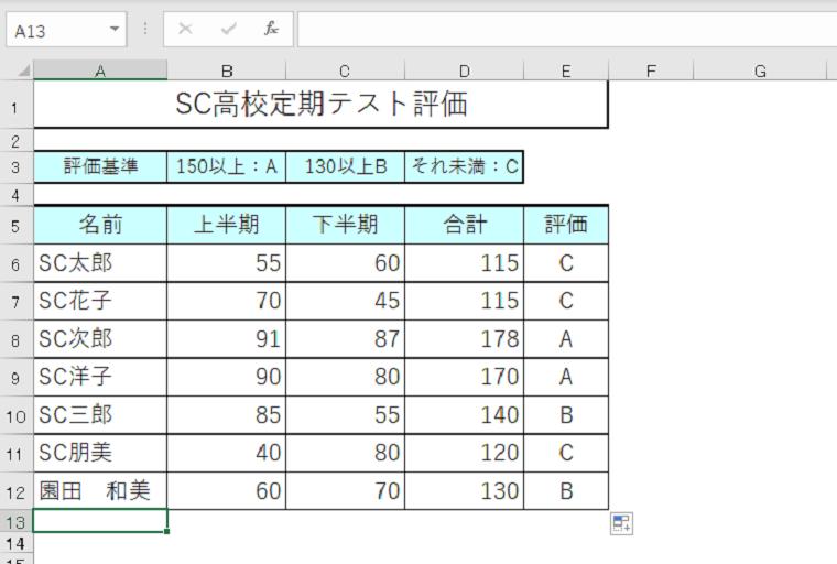 Excel2019からの新しいIFS関数で3つの条件分岐に成功しました