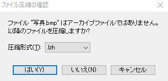 ファイル形式を選択します