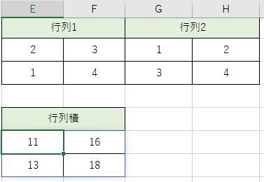 行列積が計算出来ました。