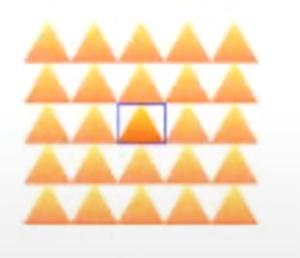 三角模様をパターンの登録