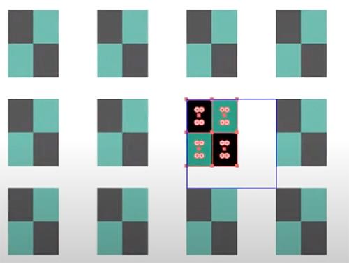 変形しても市松模様を隙間なく敷き詰めるためには両方にチェックを入れて編集しましょう。