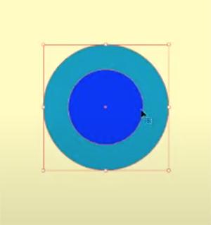 まず、ベースになる正円を2つ作成します
