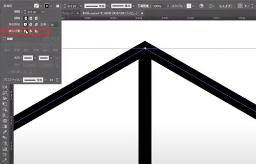 線パネルで線の位置を確認すると、
