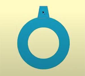 作成した台形を、ベースの円の上に配置します。
