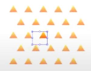 さらに、隙間をあけていきたいのでパターンの大きさを変更します。