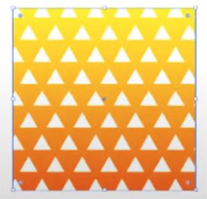 最後に三角形のオブジェクトの塗りは白に設定します。