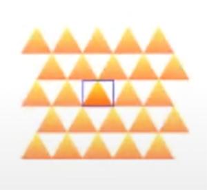すると、繰り返しのタイルの形がレンガ状に変わったのがわかります。