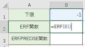 ERF関数を書きました。