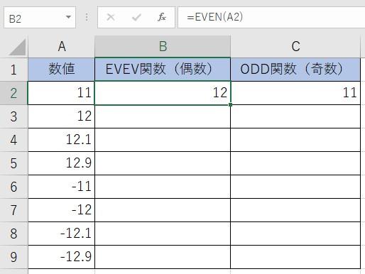 EVEN関数とODD関数