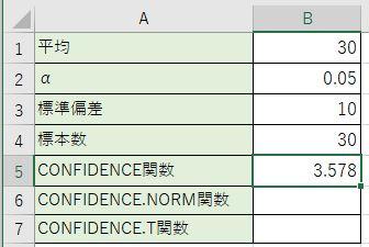 母集団の平均の信頼区間を計算しました。