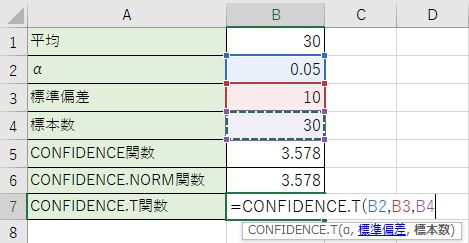 CONFIDENCE.t関数を書きました。