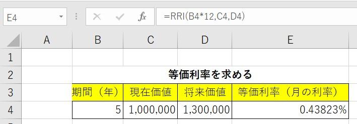 RRI関数例1結果