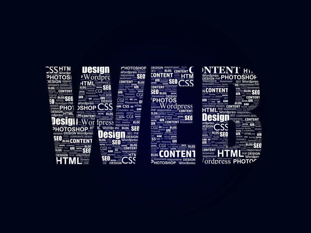 Webを表すアルファベット写真