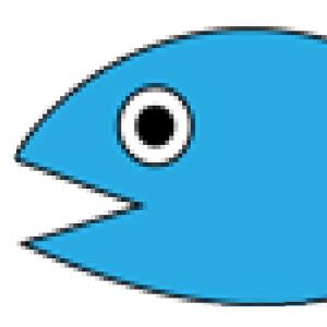 ビットマップ画像の魚
