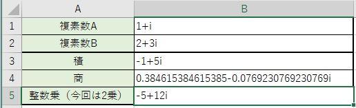 複素数の2乗の結果が出ました
